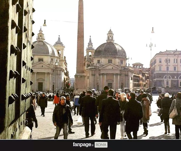 Piazza del Popolo from Porta del Popolo