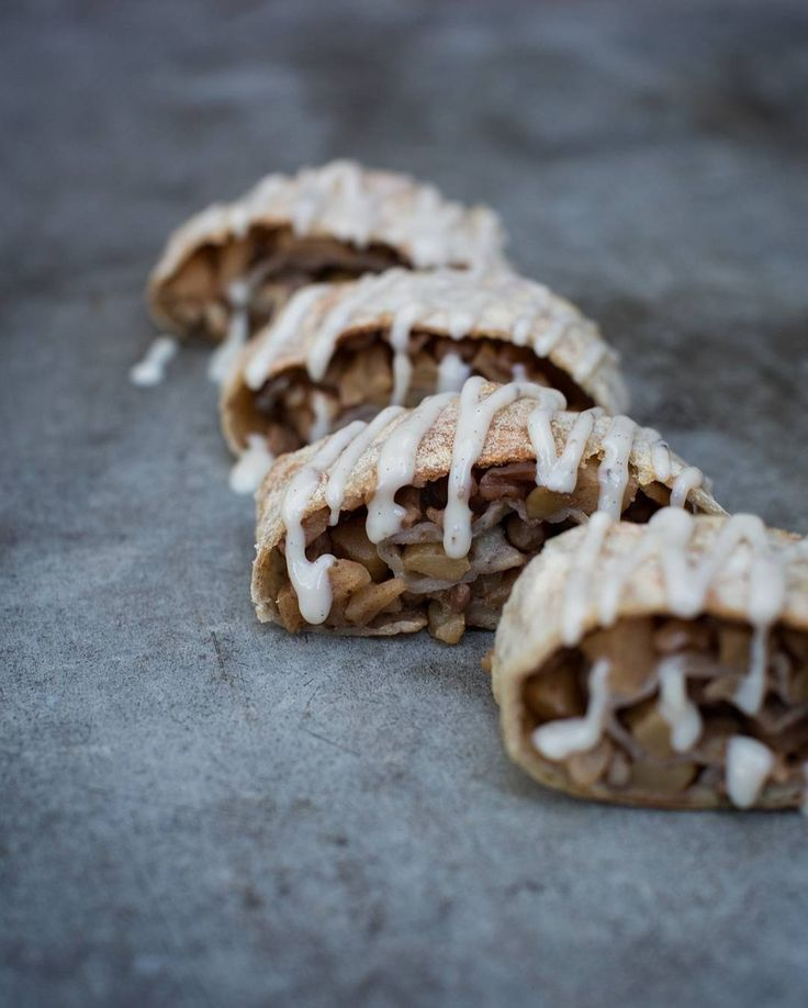 "Apple Strudel I am absolutely enjoying and love what I am doing recently! Creating nice recipes food photography eating delicious food working on my blog planning my first workshops and my internship which I am doing for Timothy alias @mississippivegan. We are working on his amazing cookbook which will be published next fall. I truly adore your photographing skills Timmy and treasure the days we spend together. Thank you for your patience after every ""Huh"" I am learning and on my way to…"