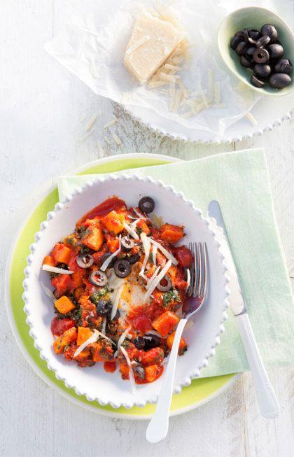 Recept voor eieren in tomaten-groentesaus