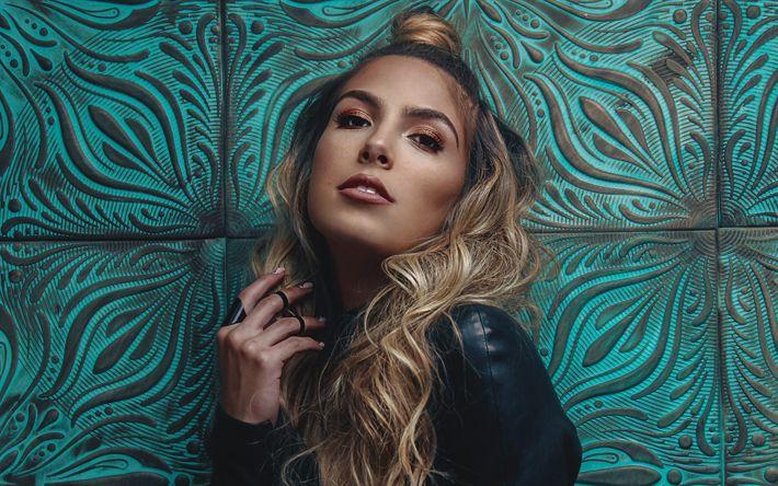 Download wallpapers Jena Rose, 4k, american singer, beauty, blonde, Jena Rose Raphael