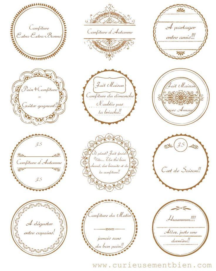 Exceptionnel Plus de 25 idées uniques dans la catégorie Étiquettes de bocaux de  JA37