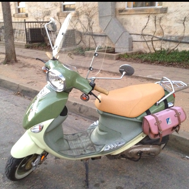 Genuine Buddy Italia Scooter W Pink Piaggio Saddle Bags