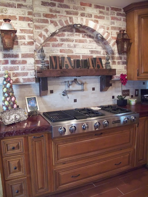 Brick Kitchen S Wooden Kitchen Cabinets Kitchen Wall Kitchen Ideas