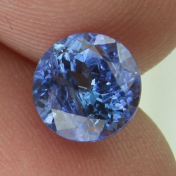 1.58 CTS NATURAL VIOLET BLUE TANZANITE GEMSTONE FACETED ROUND CUT ! TZ 8