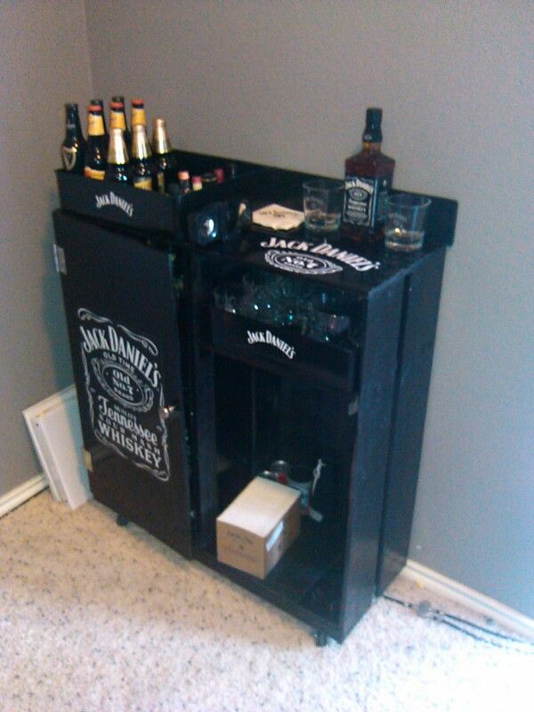 Homemade Jack Daniels mini bar