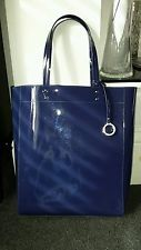 EDINA RONAY Navy Patent Large Shoulder/ Tote/ Shopper Bag