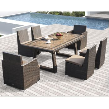 Costco Niko 7 Piece Patio Dining Set By Sirio Outdoor Furniture Pintere