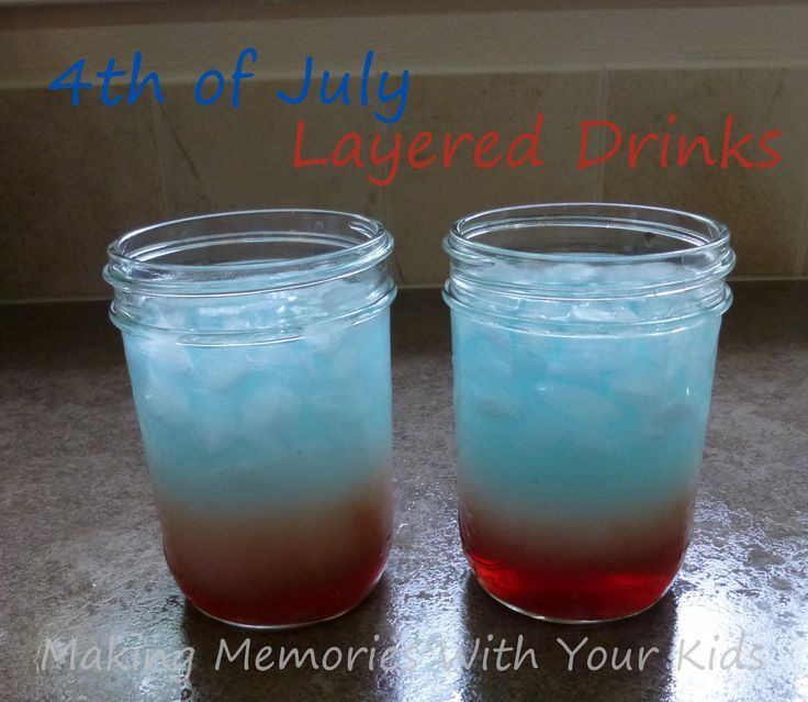 4th of july layered alcoholic drinks