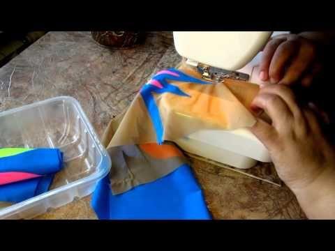 обработка капельки на костюме для художественной гимнастики - YouTube