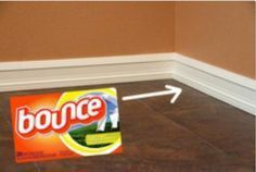 Use dryer sheets to clean baseboards. Not only cleans but also coats them to repel hair & dust.  Makes your house smell good too.