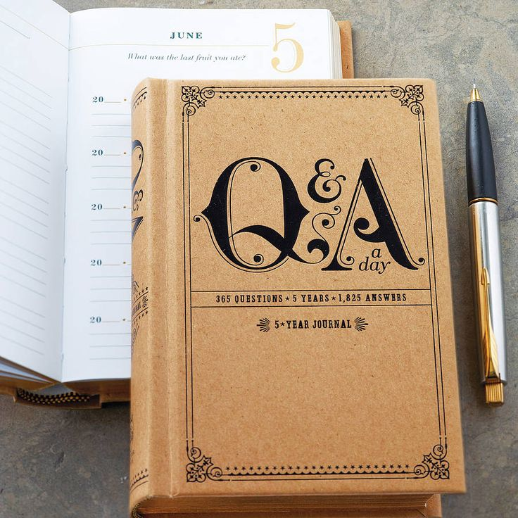 Question A Day Five Year Journal from notonthehighstreet.com