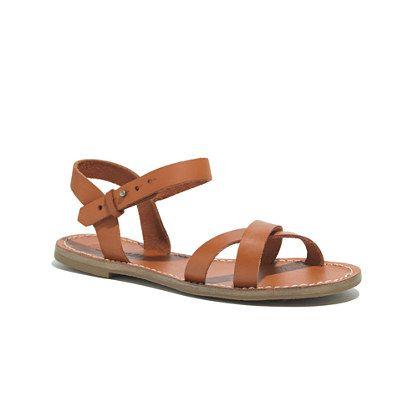 The Crisscross Sightseer Sandal - sandals - Women's SHOES & SANDALS - Madewell