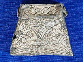 Czech Republic - West Slavs | Kaptorga - early medieval container for amulets and/or sacred herbs, worn around the neck. | Archeologické výzkumy muzea | Oblastní muzeum Praha-Východ
