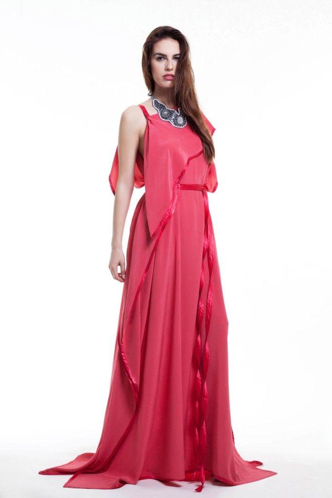 SARTORIAL | Chryssomally || Art & Fashion Designer - Grecian silk dress