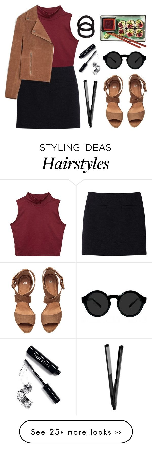 """""""Sushi date"""" by felytery on Polyvore featuring Uniqlo, Belgique, John Lewis, Bobbi Brown Cosmetics and H&M"""