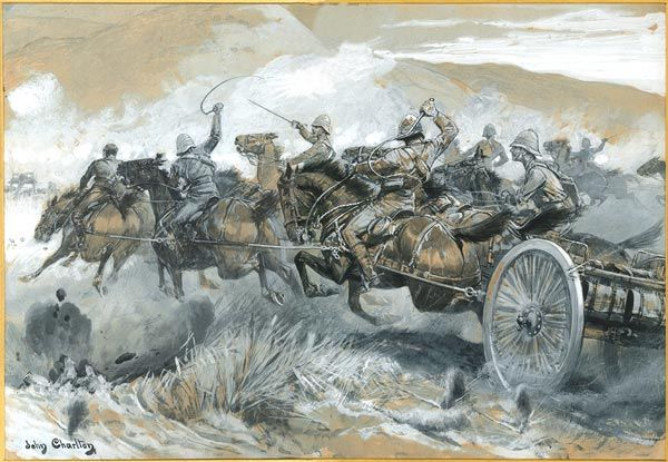 Rescuing the Guns at the Battle of Colenso on 15th December 1899 during the Boer War by Charlton