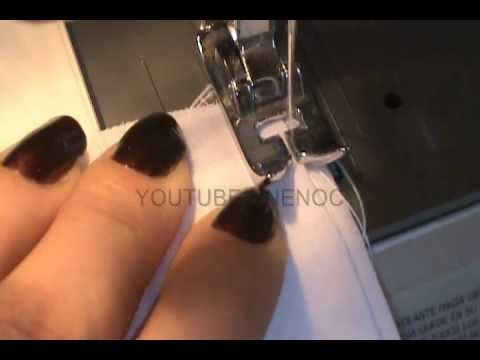 COMO HACER UNA BASTILLA COSTURA INVISIBLE EN MAQUINA DE COSER, COSTURA FACIL - YouTube