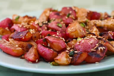 Roasted Radishes Recipe with Soy Sauce and Toasted Sesame Seed | Reci ...