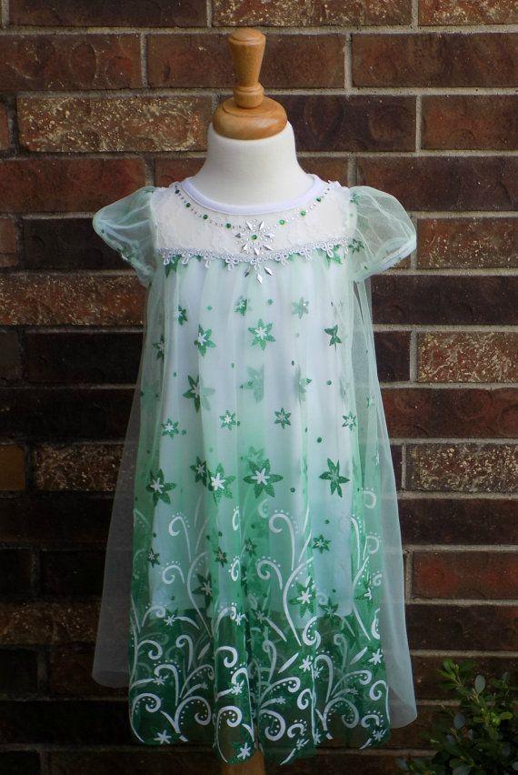 Frozen Elsa Dress, January Sale,  Princess Snowflake Cape, Party Dress-up, Queen Elsa Dress, girls Frozen dress, elsa frozen dress