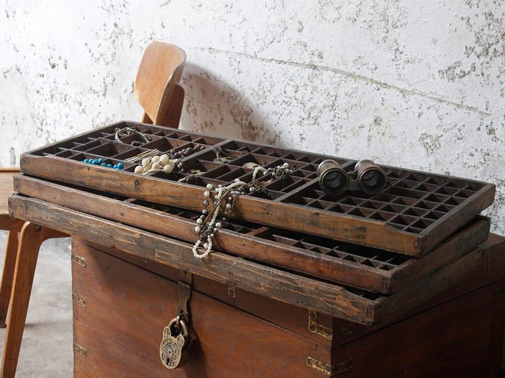 Vintage Wooden Printers Tray Letterpress Drawer