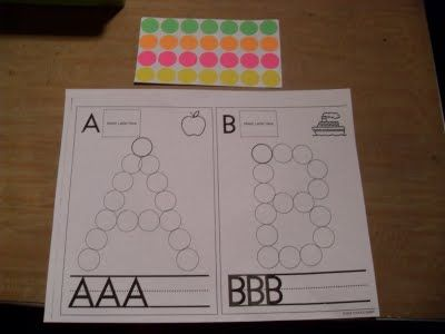 Dot letters - could be great with those stickers or bingo dobbers