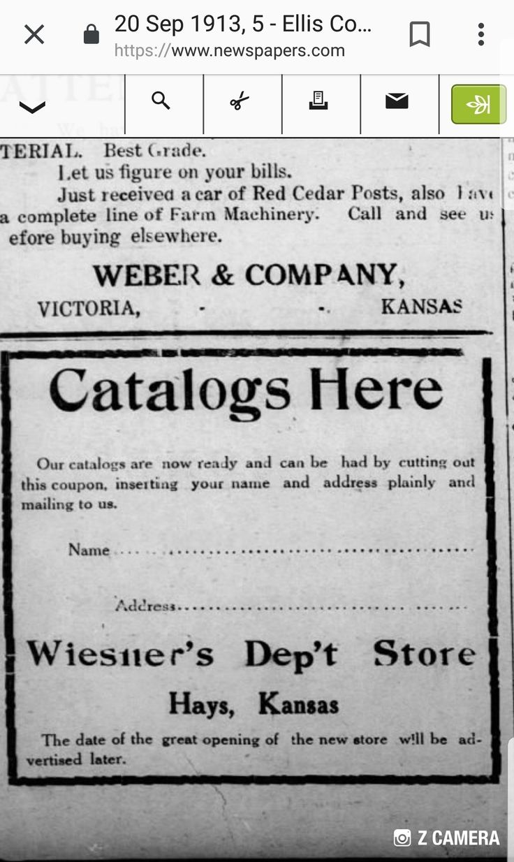 1913 Wiesner dept. Store HAYS KANSAS (With images
