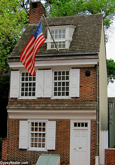 Bucket List Item: Betsy Ross House in Philadelphia! http://www.gypsynester.com/founding-cities.htm #travel #philly #usa