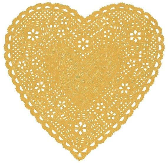 """Heart Doily - Much Love Natural) 13 x 19"""""""