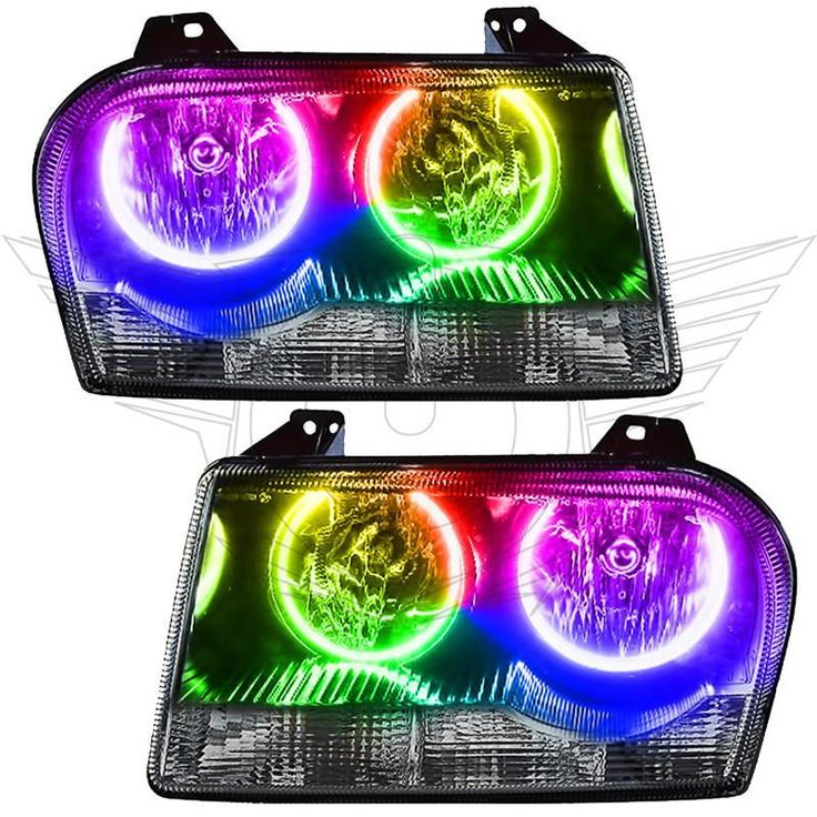 2005-2010 CHRYSLER 300 BASE V6 PRE-ASSEMBLED Oracle Halo HEADLIGHTS - NON HID