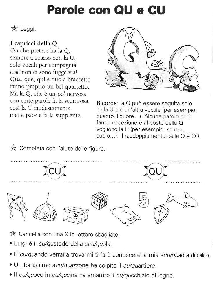 Oltre 1000 idee su ortografia di prima classe su pinterest for Parole con scu per bambini