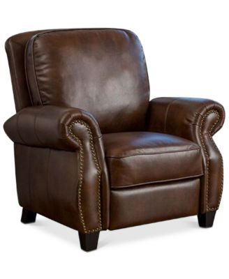 Norvil Faux Leather Recliner, Quick Ship