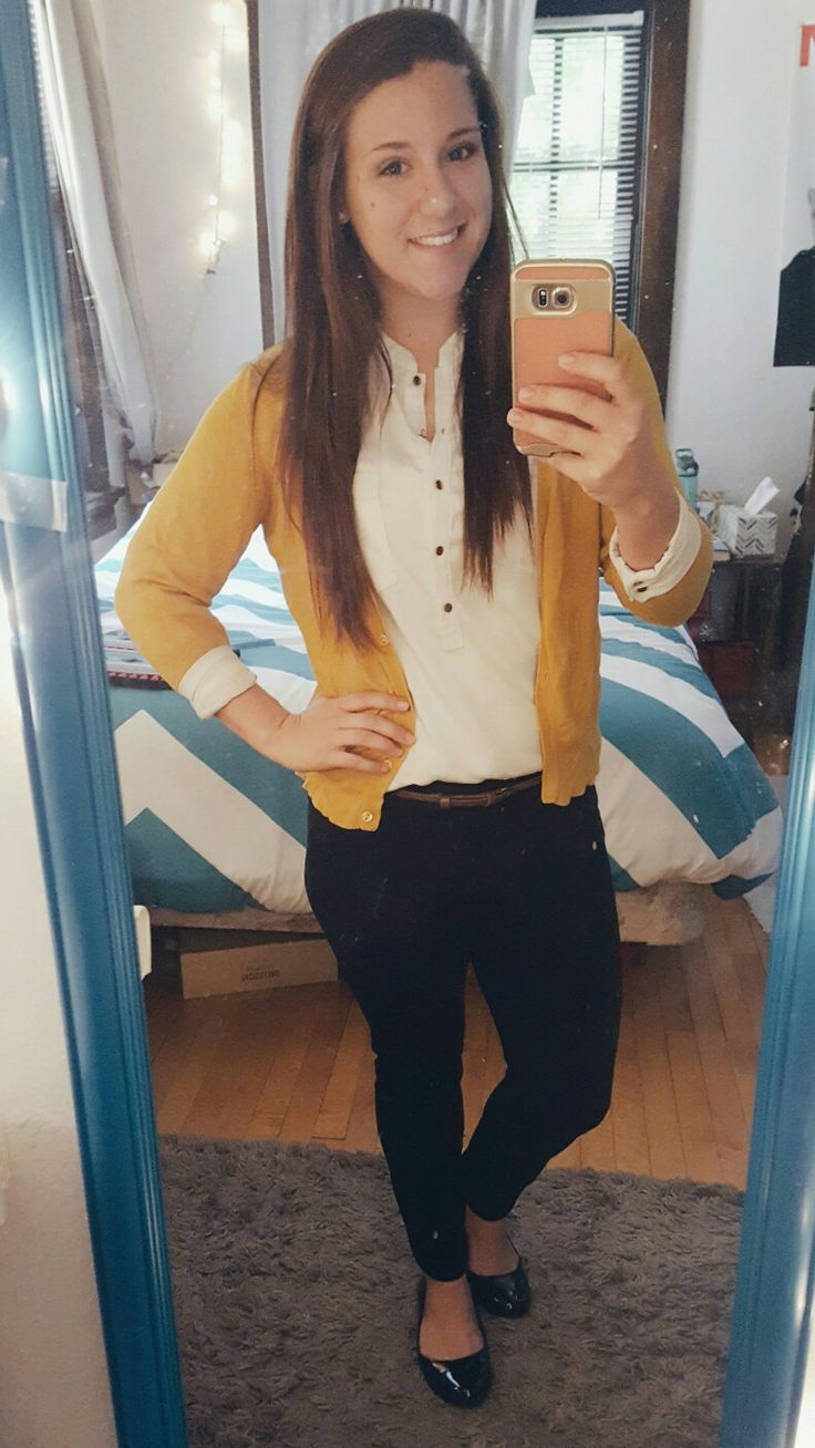 Interview outfit for college student internship! disregard my dirty mirror