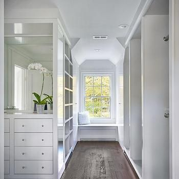 walk in closet with built in window seat bench and cubbies closets pinterest walk in. Black Bedroom Furniture Sets. Home Design Ideas