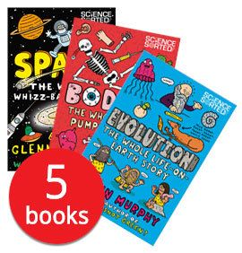 This is a collection of fun doodle-filled books about subjects ranging from science and nature to the human body. They've all been created by Glenn Murphy, the author of Why is Snot Green?, so you know they're going to be full of gloriously gross facts and tidbits.
