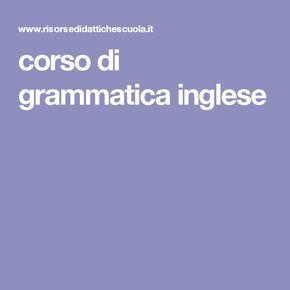corso di grammatica inglese