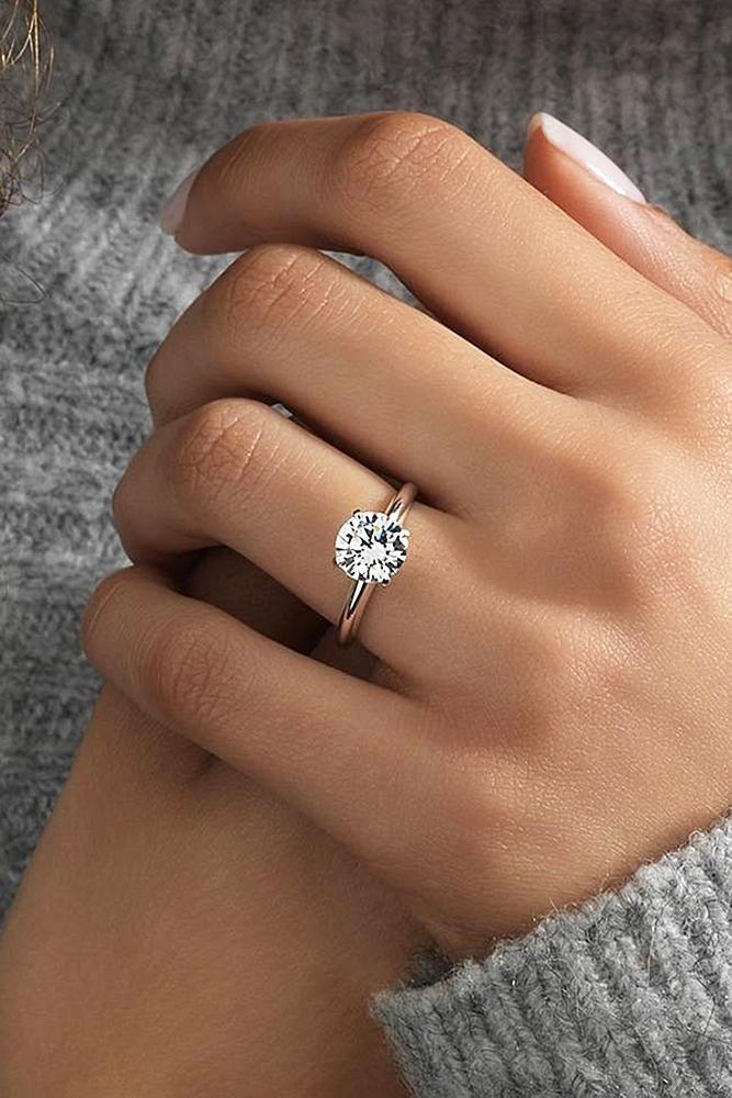 36 Rose Gold Wedding Rings You Ll Fall In Love With Wedding Forward Wedding Rings Simple Simple Engagement Rings Rings For Girls