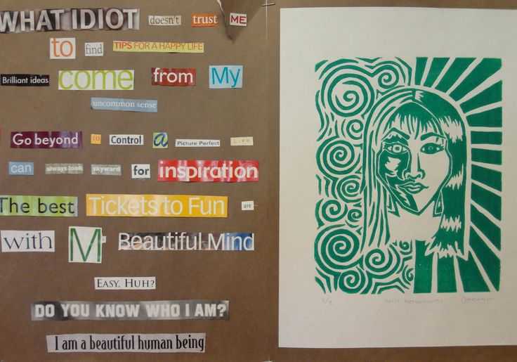 Collage Poetry & Self-Portrait Print: Printmaking Ideas, Middle Schools, Found Poetry, Art Lessons, Self Portraits, Lino Prints, Art Mashed, Lino Cut, Art Printmaking