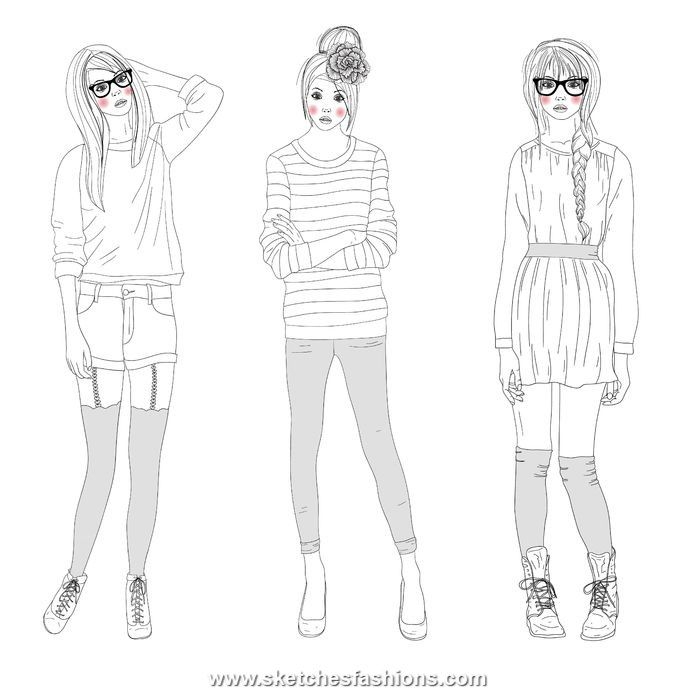 Extra Details In Model Sketch FashionFashion Design SketchesTeen FashionFemale DressAdult ColoringColouringColoring BooksModelsCroquis