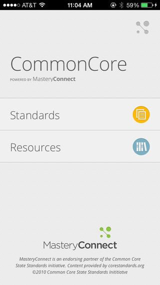 Common Core Standards App