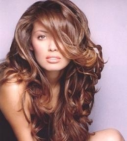 brown hair with reddish highlights?