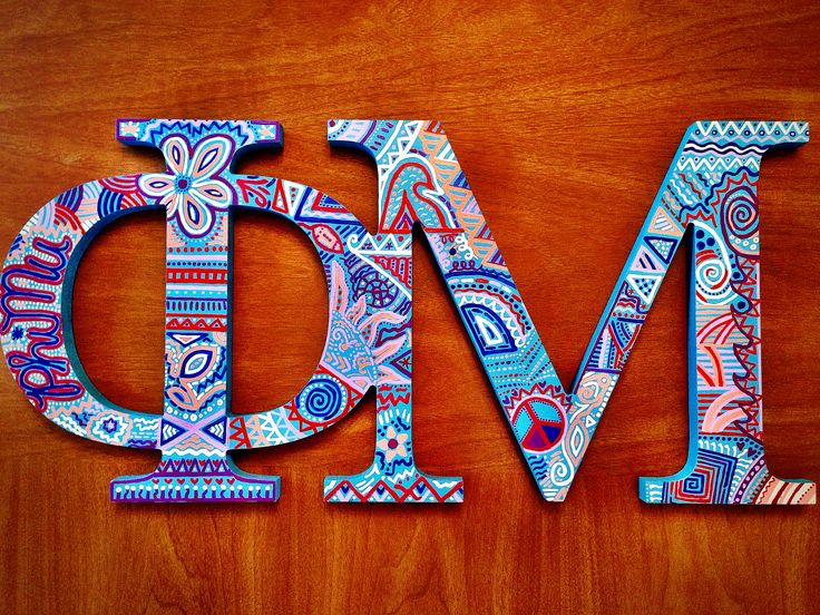 Aztec hand painted Phi Mu IN LOVE!!!! <3