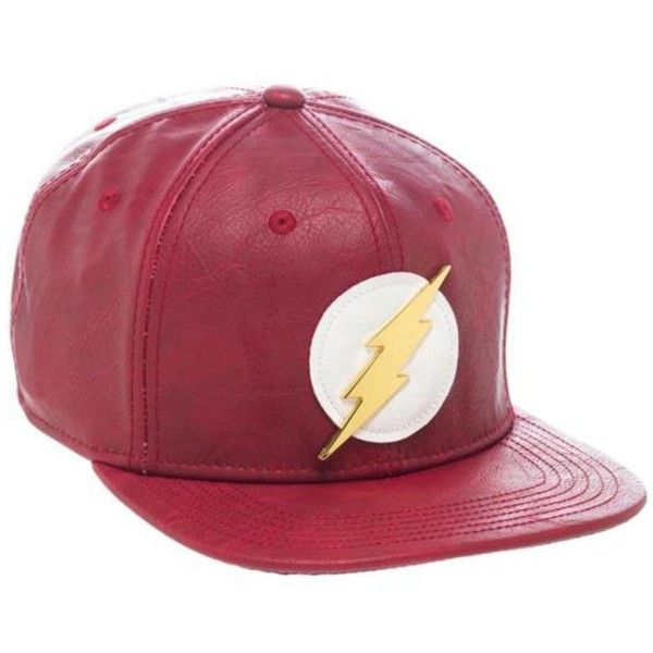Amazon.com: Bioworld Official- DC Comics Flash- Faux Leather Snapback... (264.370 IDR) ❤ liked on Polyvore featuring accessories, hats, snapback hats, snap back hats, faux leather hat, faux leather snapback and bioworld