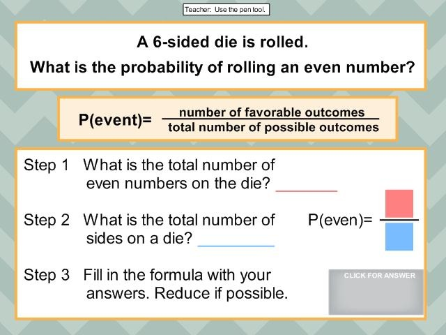 how to teach probability to high school students