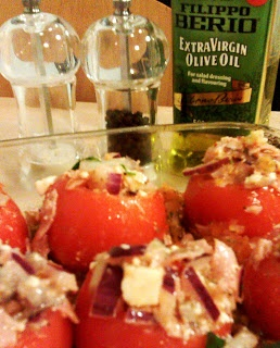 BBQ season is over - but Autumn might need some spicing up, too. Try our delicious filled Tomatoes either Vegetarian or Ham/Tuna