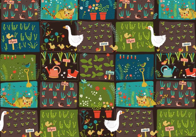 Kitchen garden pattern by Tjarda Borsboom - zwiep.nu