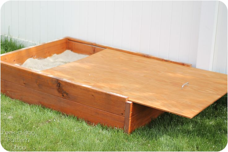 My wonderful husband built this sandbox with a lid for the kids and they are loving it! I love that it has a lid so we can close it up when we're done and keep the sand clean and dry And when it's...