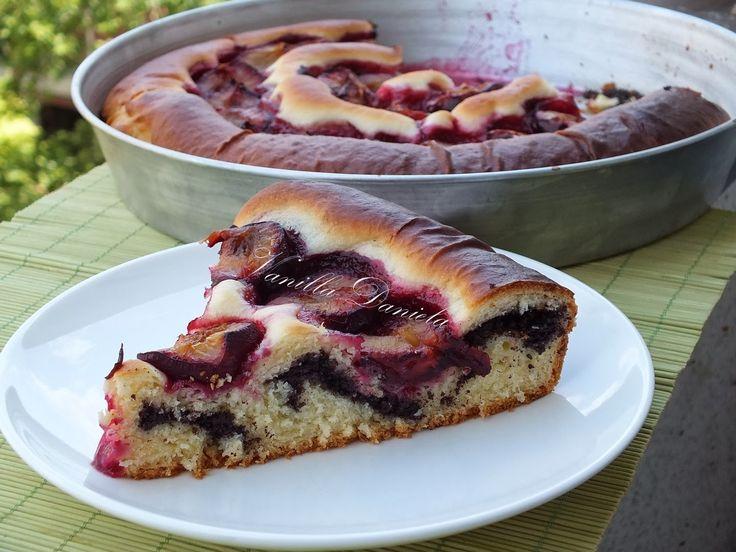 vanilla: Mákos szilvás spirál pite