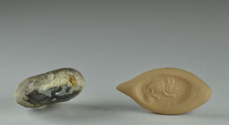 Sasanian seal, 3rd-6th century A.D. Sasanian seal with hare. Private collection