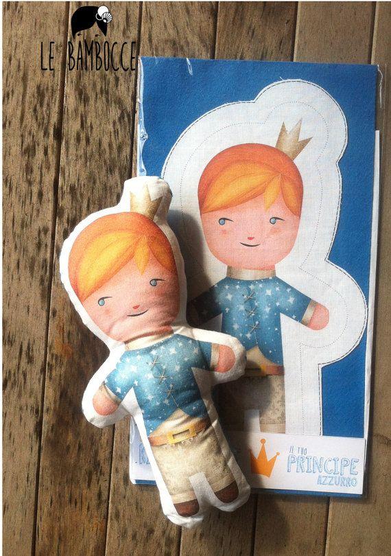 DIY   kit bambola di stoffa fai da te principe per di LeBambocce