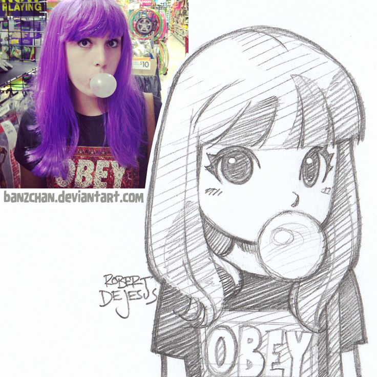 GoBoiano - 25 Awesome Anime Portraits That Transform People Into 2D Chibis